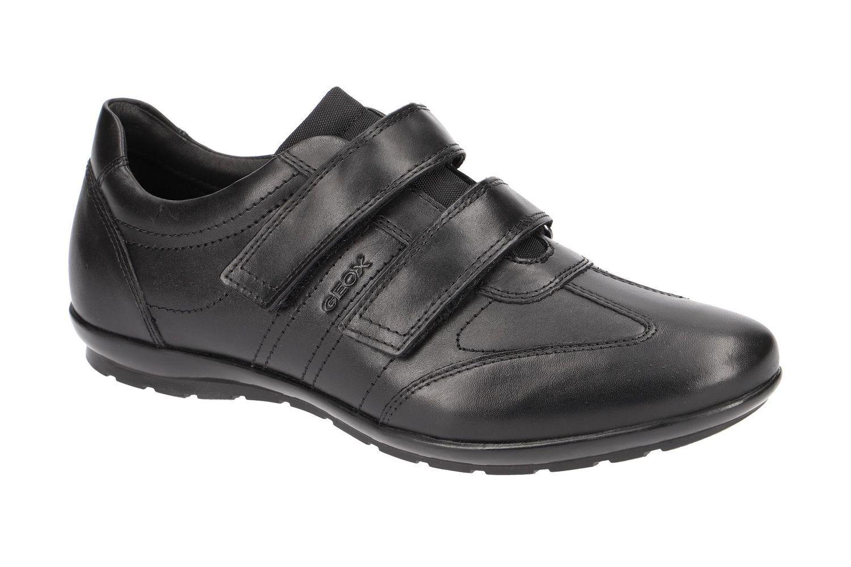 Geox Respira Symbol D Oxfords Sneaker Halbschuhe Klettverschluß U74A5D black
