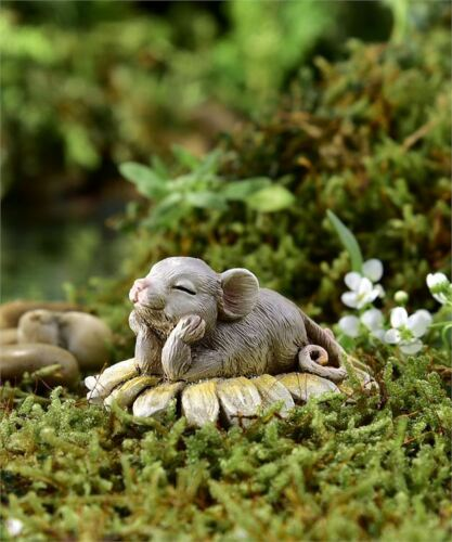 Miniatur Feengarten Figur ~ Mini Maus Blumen ~ Dreamin/' Of You