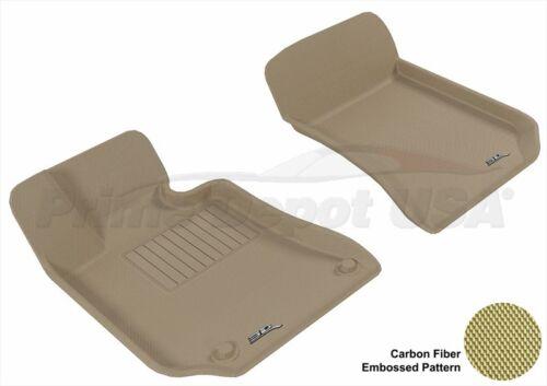 WATERPROOF 3D EXACT FIT MAXpider TAN FLOOR MAT NEVER-SLIP~E C207 COUPE-FRONT ROW