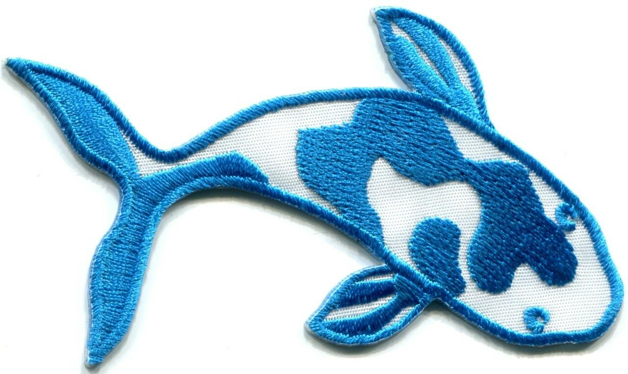 Japanese koi carp fish tattoo Japan love applique iron-on patch new G-87