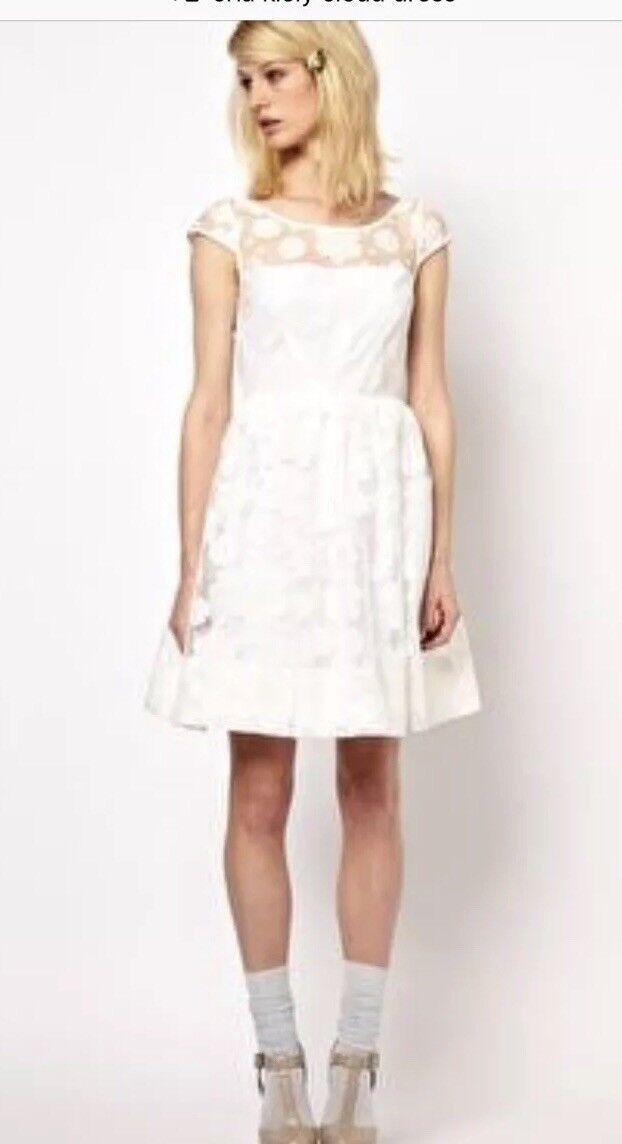 Nwt Orla Kiely Anthropologie Cloud Organza Dress 8  299