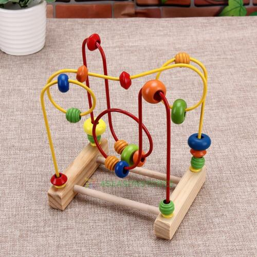 Learning Math Toy Educational Baby Kids Wooden Around Beads Toddler Infant