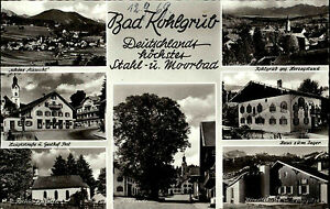 Bad-Kohlgrub-Bayern-Mehrbildkarte-1969-Gasthof-Post-alte-Linde-Hoerndlehuette-u-a