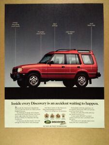 1998 Land Rover Discovery Original Advertisement Car Print Ad J351