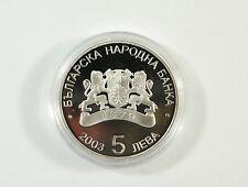 Fifa WM 2006 - Bulgarien 5 Lewa 925 Silber Medaille  /S4