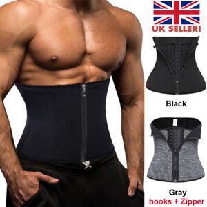 Men Women tummy Waist Cincher Neoprene Sweat Belt Trainer Body Shaper Slimmer UK