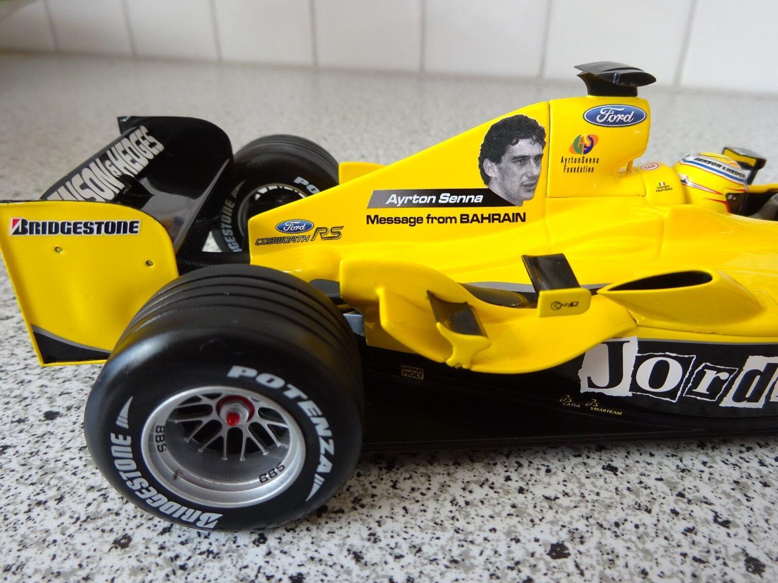 Jordan EJ14 Giorigo Pantano   Imola GP 2004 - Ayrton Senna Livery   1 18