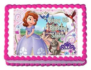 SOFIA The First Princess Party Decoration Cake Topper Image Frosting Sheet