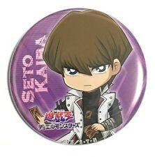 Yugioh Cafe Vol.1 Kaiba Seto KC Button Badge Brooch FREE POSTER 20th Anniversary