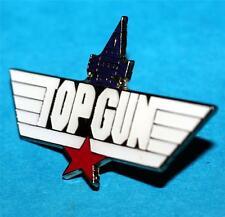 "TOP GUN US NAVY Action Movie MAVERICK 1-1/2"" Novelty TOMCAT WING LAPEL HAT PIN"
