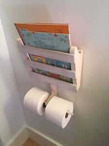 Details About Bathroom Wall Mount Wood Toilet Paper Roll Holder Tissue  Magazine Storage Basket