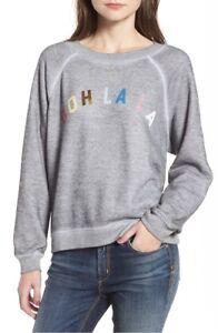 La chiné Sweatshirt ML Couture Sz Wildfox pour Ooh femmesgris PXTOkiZu