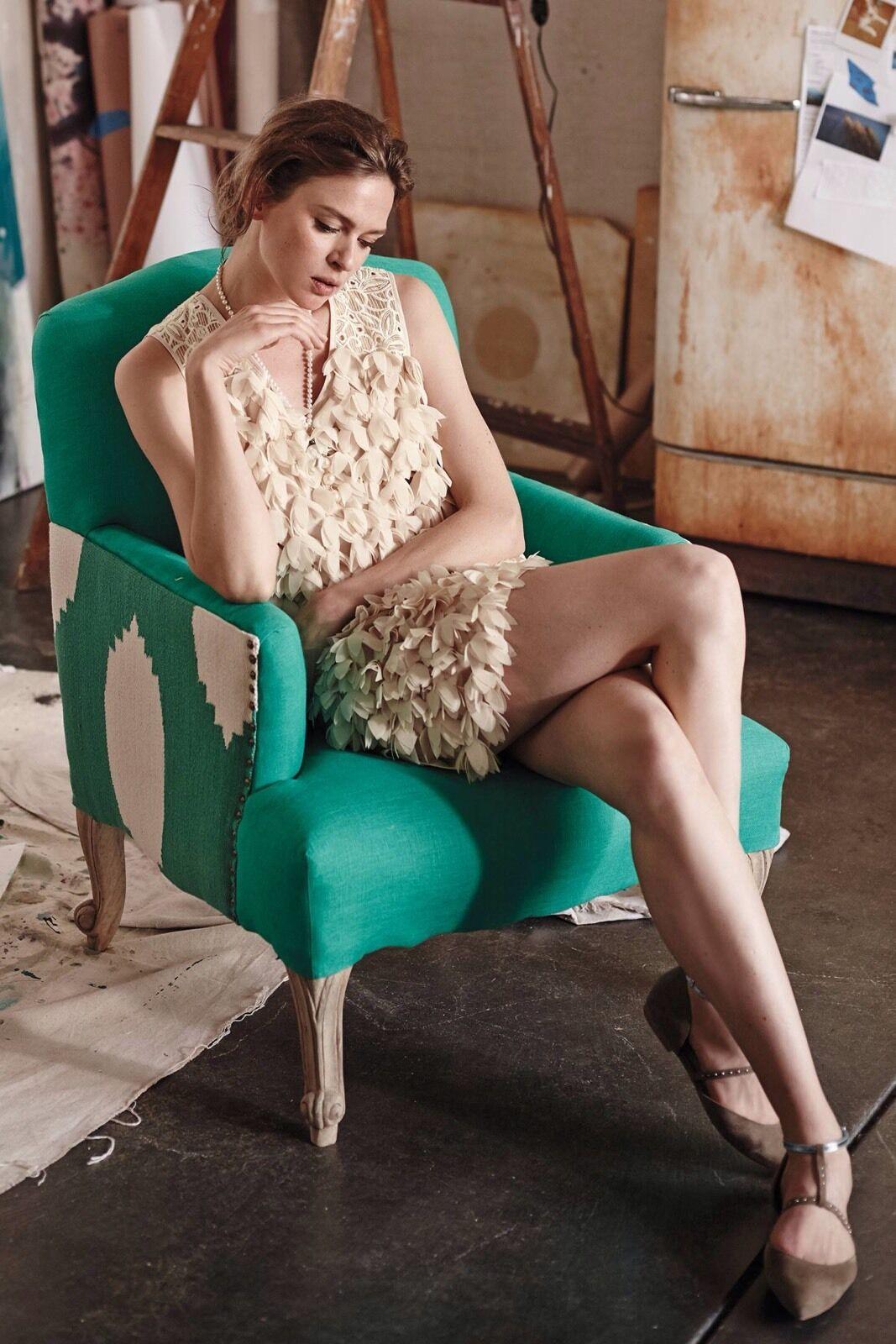 NEW Anthropologie Petal Pop Mini Shift Dress by Champagne & Strawberry Größe 0