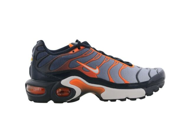 lowest price 19915 844ae WOMENS BOYS GIRLS NIKE AIR MAX TN PLUS TUNED 1 TRAINERS NAVY GREY 655020408