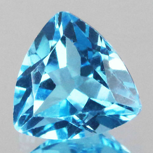 C6-1 6mm 1pc billones de corte Natural Swiss Topacio Azul