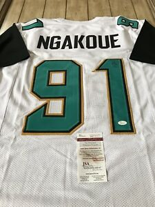 53f33b4696c Image is loading Yannick-Ngakoue-Autographed-Signed-Jersey -JSA-COA-Jacksonville-
