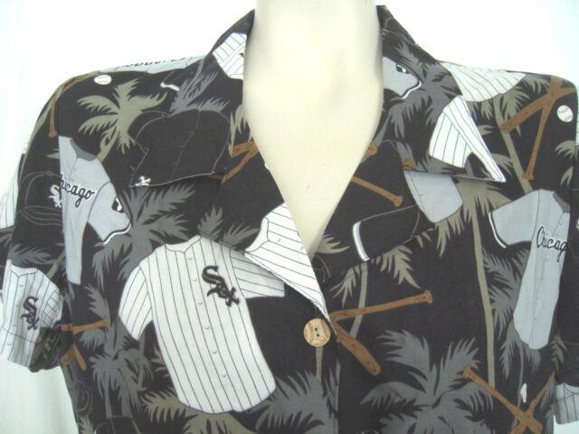 CHICAGO WHITE SOX Reyn Spooner WOMENS Shirt MEDIUM Button-Front Rayon NWT