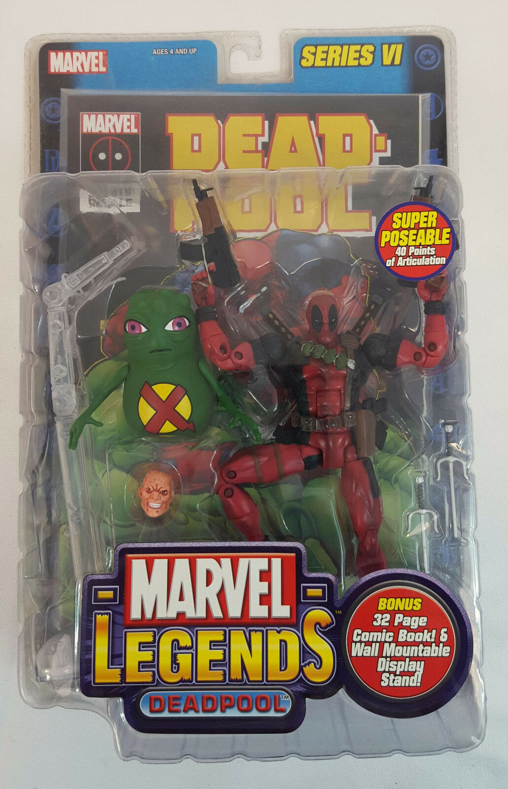 2004 Toy Biz MARVEL LEGENDS Series VI 6 DEADPOOL Action Figure w DOOP & Comic