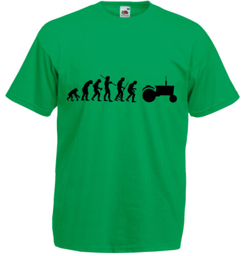 Evolution of Tractor Farmer Inspired Men/'s Printed T-Shirt Crew Neck T Shirts