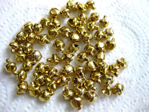 80 kleine Glöckchen silber gold und multi ca.8 x 10mm  A20