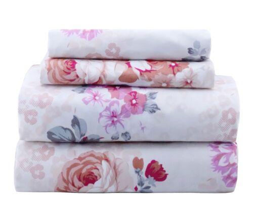 Beautiful Bedding Super Soft Comfort Floral 6 pcs Sheet Set Blush Purple