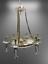 Indexbild 6 - Deckenleuchter Chandelier Gold Mäanderkante Acryl-Glas 6 Lampenschirm beige