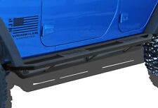Willis Aluminum Black Rock Slider Side Armor For 07-17 Jeep Wrangler JK 4-Door