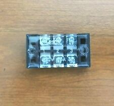 Large Bbt 3 Circuit 25 Amp 600 Volt Terminal Block Withclear Safety Cover