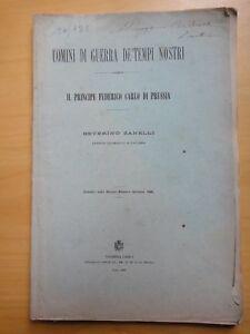 1888-IL-PRINCIPE-FEDERICO-CARLO-DI-PRUSSIA-Colonnello-SEVERINO-ZANELLI-autografo