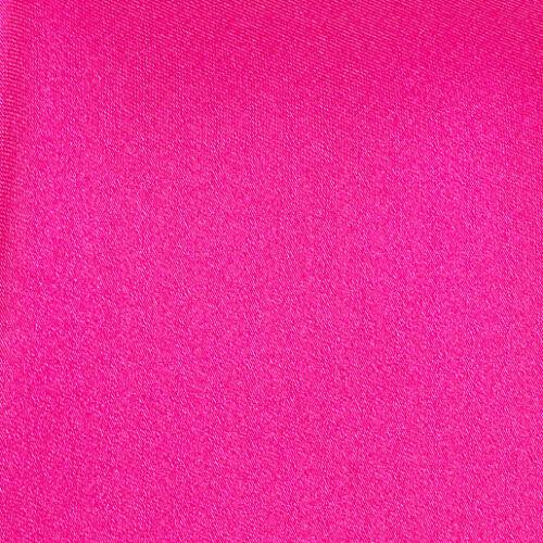 DQT Satin Plain Solid Hot Pink Formal Classic Mens Self Tie Bow Tie