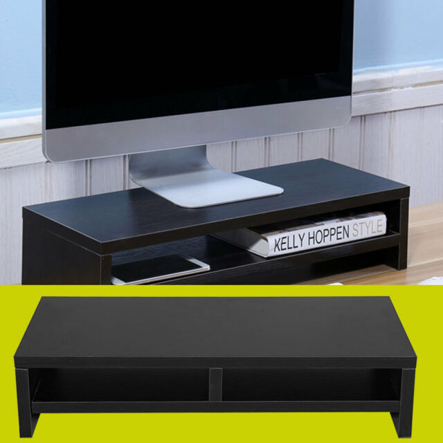 Buy Computer Monitor Stand Desk Table 2 Tier Shelf Laptop Riser Lcd