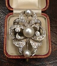 Victorian Edwardian American 34 Old Cut Diamond Pearl Antique Ring Art Deco Aga