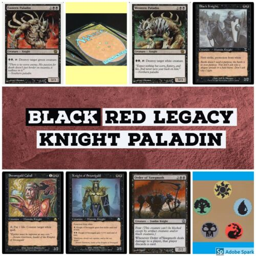 mtg Black Red Knight Paladin Legacy deck Magic the Gathering rares Eastern West