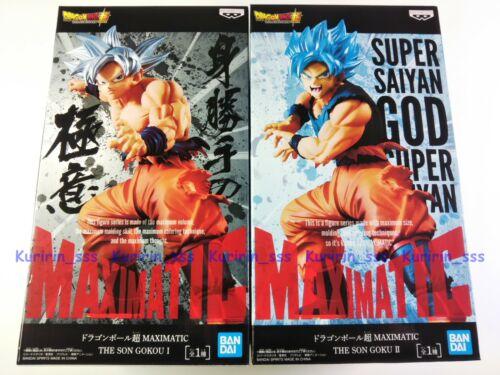 Set 2 DragonBall Super MAXIMATIC Figure Ultra Instinct SSGSS THE SON GOKOU//GOKU