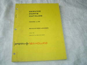 New-Holland-L-35-skid-steer-loader-tractor-parts-catalog-manual-book