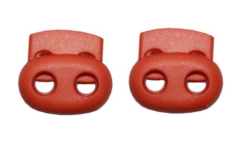 0129 Cordel topes cordel borna oval 2 agujeros naranja 2 unidades