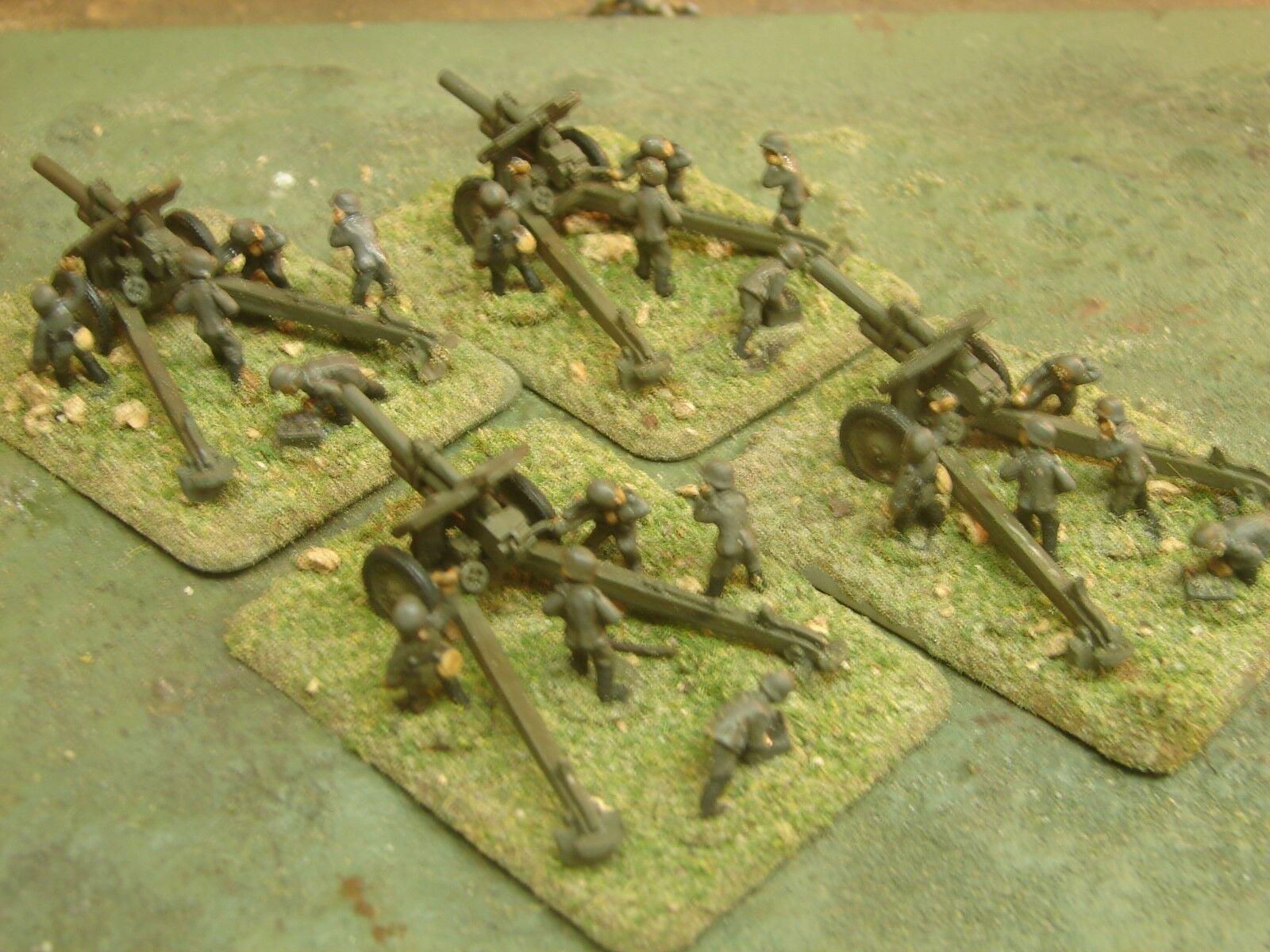 Paar gemalt, deutsche artillerie batterie (russische 122mm waffen mit deutschen mannschaften)