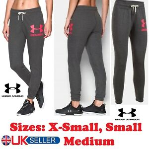 Under-Armour-Ladies-Baseline-Fleece-Casual-Sports-Tapered-Joggers-Bottoms-Grey