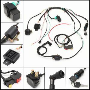 Solenoid-Rectifier-Coil-CDI-Wiring-Harness-Loom-50-110-125cc-Quad-Pit-Dirt-Bike