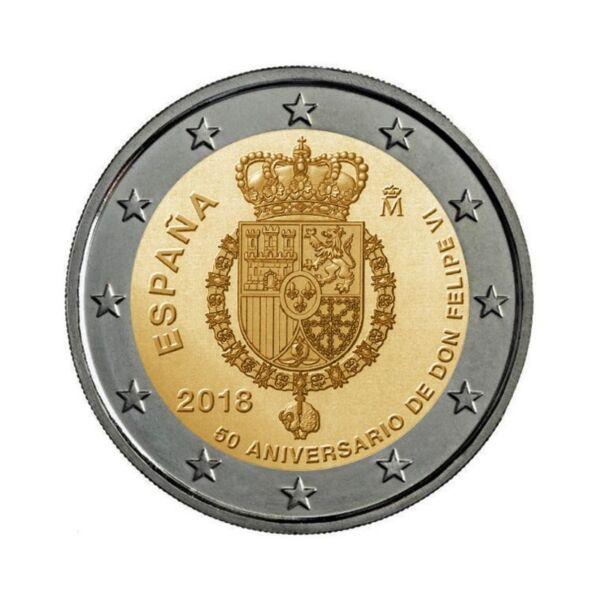 Amical 2 Euros Commemorative -espagne 2018- Felipe Vi -neuve Unc -sous Capsule