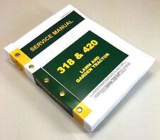 john deere 318 420 lawn garden tractor service manual technical rh ebay com john deere 318 parts manual pdf john deere 318 parts manual pdf