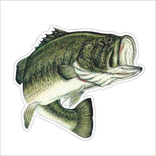 SPR 3M Graphics Largemouth Bass Fishing Fish Vinyl Helmet Tool Box Car Sticker