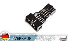 10-Pin auf 6-Pin Converter schwarz USBASP USBISP für Arduino & Mikrocontroller