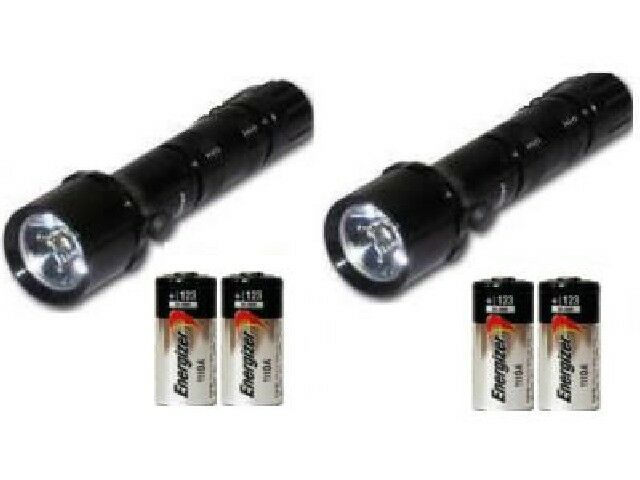 2-Pk  CREE XR-E (4W) LED Flashlight + 4-Pk CR123 Energizer Lithium Batteries  large discount