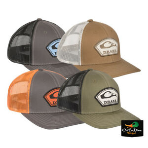 DRAKE-WATERFOWL-SYSTEMS-ARC-PATCH-LOGO-MESH-BACK-BALL-CAP-SNAP-BACK-TRUCKER-HAT