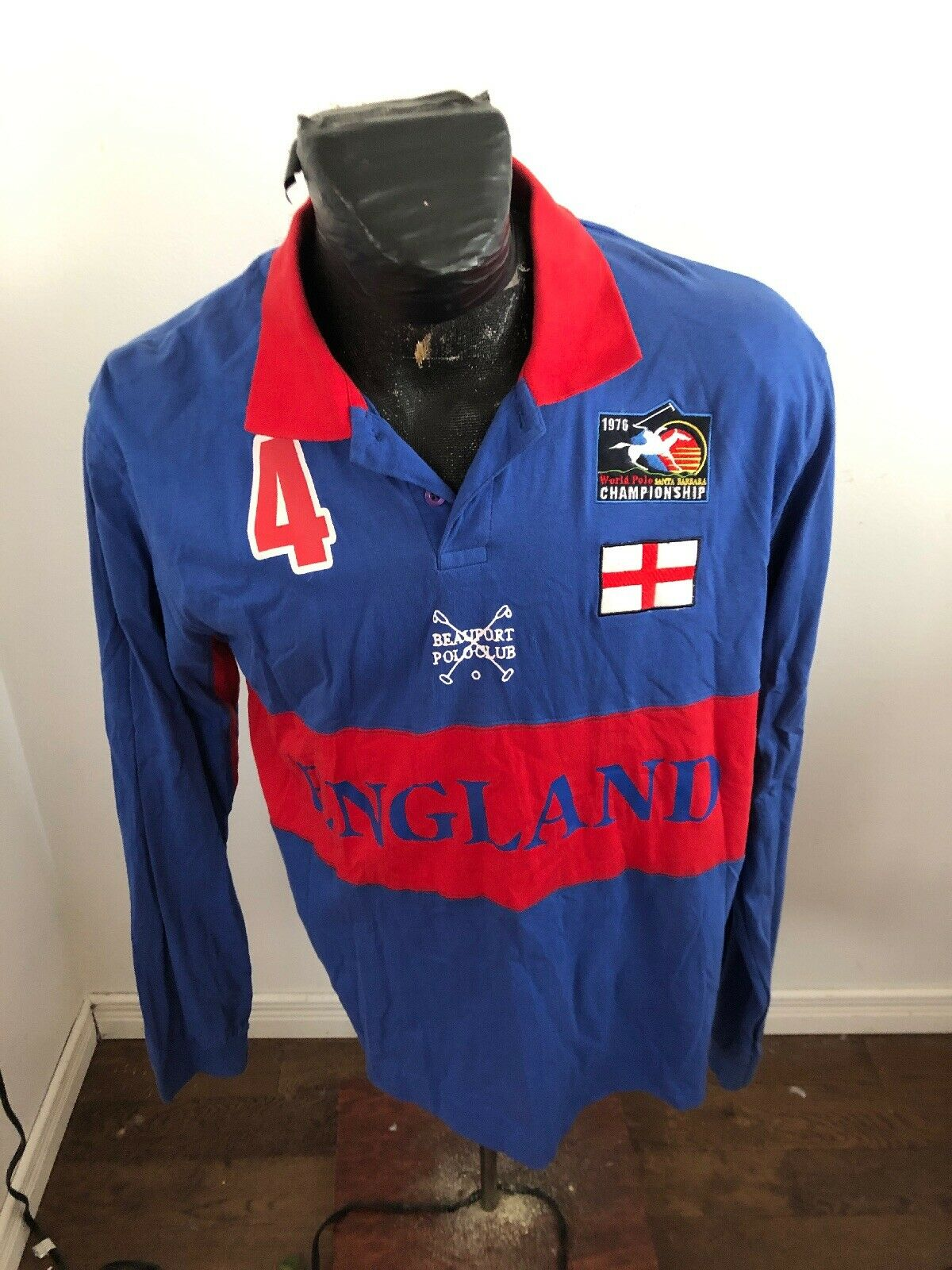 MENS XLarge Polo Jersey  1976 World Polo Championship England