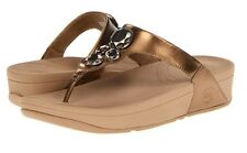 Fitflop Original New Lunetta Bright Bronze Wobble Board Lightweight Thongs Sz 9