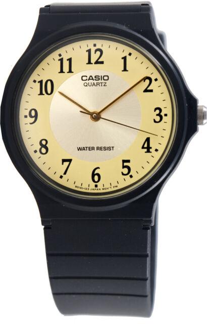 Casio MQ-24-9B3 Gold Analog Watch Classic Sport Yellow Watch NEW