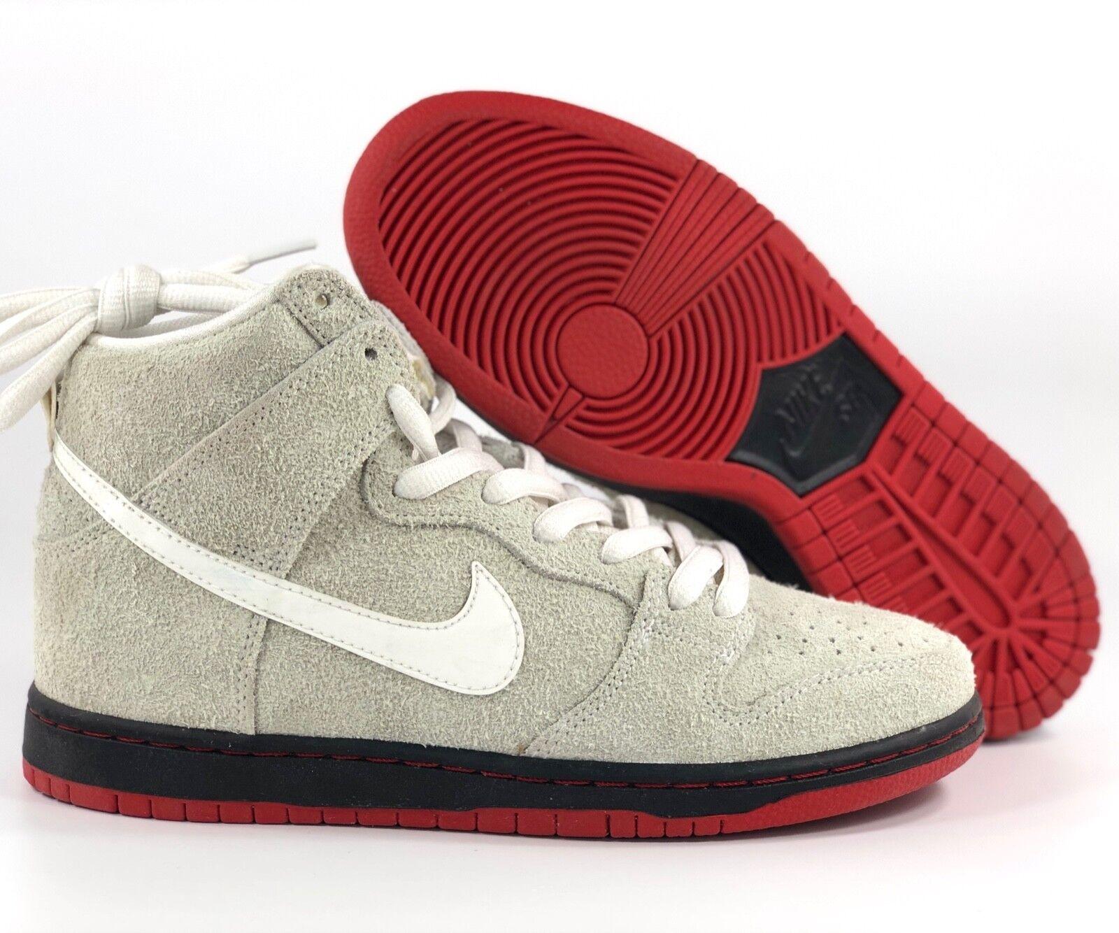 Nike SB Dunk High TRD QS Black Sheep Summit White Black Red 881758-110 Men's 11