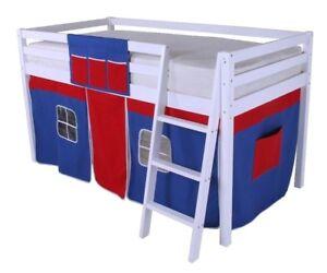 Cabin Bed Mid Sleeper Bunk Bed Mid Sleeper New 3ft Single Boys Kids